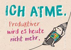 Ich atme. - Postkarten - Grafik Werkstatt Bielefeld