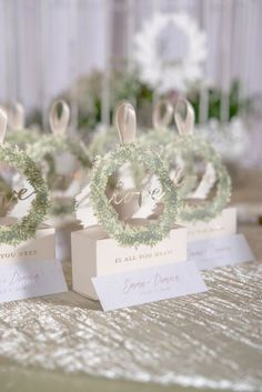 The meticulous details in this exclusive love wreath favor box with ribbon will add instant style wherever is appears. Affordable Wedding Favours, Honey Wedding Favors, Creative Wedding Favors, Elegant Wedding Favors, Wedding Favor Boxes, Unique Wedding Favors, Unique Weddings, Favour Boxes, Wedding Ideas