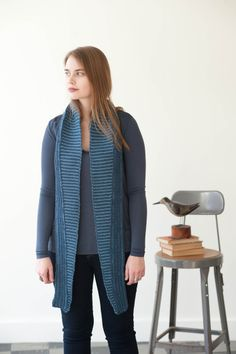 scarves, etc. 2014: parallel by makiho negishi / quince & co lark