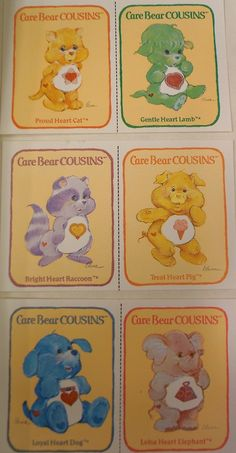 Children of the 1980s, who remembers the Care Bear Cousins?!?