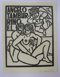 Ex-libris; Lot met 12 erotische ex-libris van Costante Costantini - 20e eeuw
