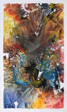 Shadow Dance In Crack Area #8    /   Spray Paint and Acrylic on Canvas   /  150 x 90 cm   /   2017