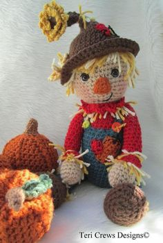 Simply Cute Scarecrow Crochet Pattern by | Craftsy