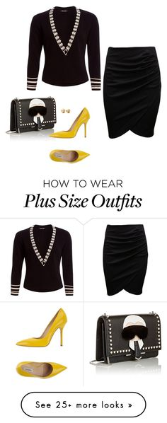 """""""Show off curves"""" by humblechick1 on Polyvore featuring NIC+ZOE, Fendi, Ninalilou, Eddie Borgo, women's clothing, women, female, woman, misses and juniors"""
