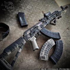I gotta use my AK gonna be a good day .... www.darkalliancefirearms.com .... #DarkAllianceAintNuthinToFuckWith #ViolenceDoesSolveProblems #ar15 #ak47 #military #rebel #apocalypse #molonlabe #custom #marines #army #AR #handmade #navy #police #zombie #gun #shoutout #gunporn #xd #tactical #uglykidarmy