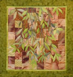 Hand painted fabric art quilt, wallhanging - Salt Spring Island by ArtQuiltsbyGretchen on Etsy https://www.etsy.com/listing/119206229/hand-painted-fabric-art-quilt