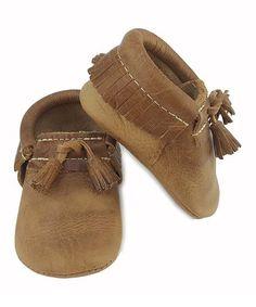Look at this #zulilyfind! Vintage Brown Tassel Leather Booties #zulilyfinds