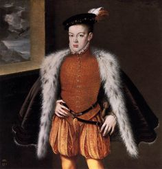 Mad Crown Prince Don Carlos of Spain (1545-68) by Alonso Sanchez Coello