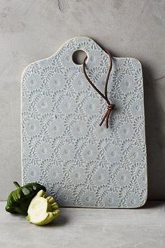 Terrific Pics slab Ceramics cheese boards Tips Anthropologie Ceramic Lacework Cheese Board Hand Built Pottery, Slab Pottery, Ceramic Pottery, Pottery Art, Thrown Pottery, Ceramics Projects, Clay Projects, Ceramic Clay, Ceramic Plates