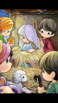 simple Nativity I love precious moments Christmas Nativity, Christmas Clipart, Christmas Pictures, Christmas Art, Christmas Wishes, Precious Moments Coloring Pages, Precious Moments Quotes, Precious Moments Figurines, Christmas Illustration
