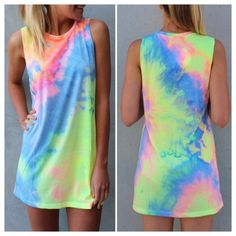 Tie dye dress shirt cover up This beautiful tie dye dress/shirt can worn as cover up at the beach or with some cute jean shorts.  Can be worn to barbecues,beach, summer parties and more☀️ A must have for the summer time. Tie-dye pattern is random.   ✨Go up a size if you want it to be more roomy✨  ✨Material: Cotton Blend✨  ✨Occasion: Summer/Beach/Party/Club Wear✨  ✨Pattern: Pastel tie dye✨  ✨Package Included: 1x Women's Dress/shirt  new without tag✨ Lee's Boutique Swim Coverups