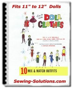 Complete set of free Barbie sewing patterns which consist of 10 really cute outfit pieces. These patterns can create over 10 Mix & Match Outfits Sewing Barbie Clothes, Barbie Sewing Patterns, Coat Pattern Sewing, Doll Dress Patterns, Sewing Patterns Free, Clothing Patterns, Free Sewing, Vintage Patterns, Gi Joe