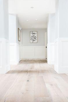 Home Renovation Flooring Our House Remodel: Flooring Reveal Home Renovation, Home Remodeling, White Oak Floors, Light Oak Floors, Light Wood Flooring, Modern Wood Floors, Grey Wood Floors, White Walls, Engineered Hardwood Flooring
