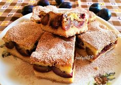 Vaníliahabos szilvás szelet | Jucus receptje - Cookpad receptek Pancakes, French Toast, Deserts, Sweets, Cookies, Baking, Breakfast, Recipes, Food