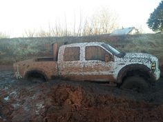 Nothing like some rear tires covered in mud...