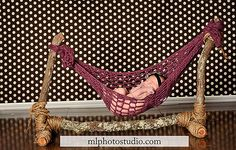 Newborn Hanging Hammock... I want to make one of these... this looks awesome!