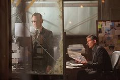 Michael Emerson and James Caviezel in Person of Interest