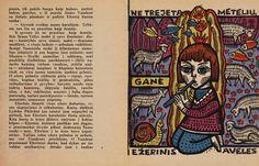"""Albina MAKŪNAITĖ – An illustration to Aldona Liobytė's story """"Ežerinis"""", 1962."""