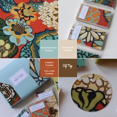 Neat idea. Fabric cards etc. Don't know exactly how it would be done though :(