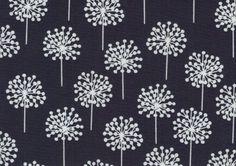 Blue Dandelion 100 cotton fabric 1 yard x 44 by mountainhoney, $11.75