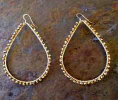 Sterling silver hoop earrings wire wrapped with by VivianRDesigns