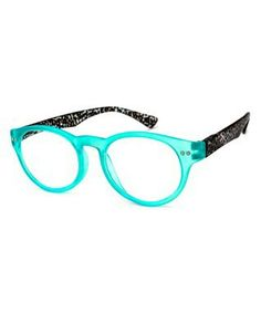 e3d0099135d This Turquoise Cheetah Circle-Frame Readers is perfect!  zulilyfinds  Reading Glasses