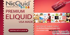 """I don't know how many people were aware of this deal cause I haven't heard of it anywhere else. There is an AltSmoke Nicquid sale going on right now. Just use the coupon code """"NICQUIDTRY"""" and save 10% on your Nicquid purchase. http://gotsmok.com"""