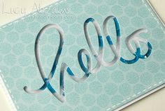 Hello shaker-box card by Lucy Abrams, via Flickr