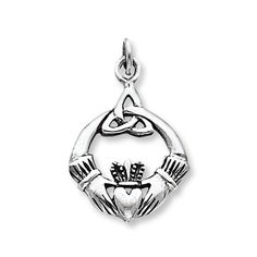 Claddagh Charm  Sterling Silver