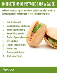 Clique na imagem para saber mais sobre os benefícios do pistache para a saúde. #pistache #alimento #alimentação #alimentaçãosaudável #saúde #bemestar