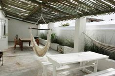 Tolbos is a rustic and restored fisherman's home set in a quiet cul-de-sac in Paternoster, a picturesque fishing village located about 145 km from Fishing Villages, Outdoor Furniture, Outdoor Decor, Weekend Getaways, Hammock, Restoration, Rustic, Travel, Inspiration
