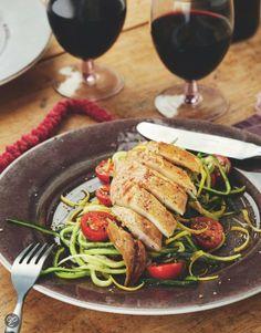 Gestoomde makreel met courgetteslierten en tomaatjes uit Puur genieten 2, Pascale Naessens #Recipe #Delicious