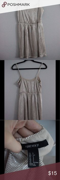 F21 shimmery metallic must have mini dress Size small. No flaws. Gently worn. Forever 21 Dresses Mini