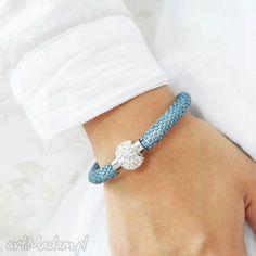 blue inspiration, bransoletka, koralikowa, beading, beadwork, beadcrochet biżuteria