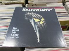 """Japanese pressing of Halloween OST  JOHN CARPENTER/BOWLING GREEN JR. PHILHARMONIC ORCHESTRA (1979 ORIGINAL-JAPANESE PRESSING + ILLUSTRATED FOLDOUT INSERT! """"SPACESIZER 360 SYSTEM RECORDING"""") NIPPON COLUMBIA SX-7013  soundtrack"""