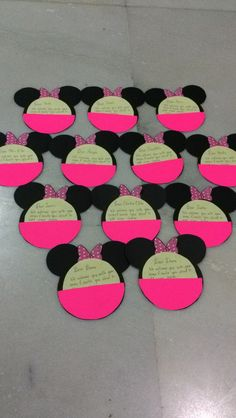 Handmade minnie mouse birthday invites