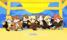 BTS IDOL ❤ Foto Bts, Bts Photo, Chibi Wallpaper, Images Wallpaper, Bts Chibi, Anime Chibi, Dance Music, Anime Backgrounds Wallpapers, Gaming Wallpapers