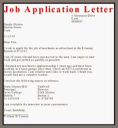 Thoughts Application For Job School Formata Letter From Kiran Bir