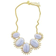 Roxy Necklace in Blue Lace Agate - Limited Edition