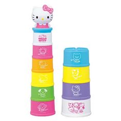 This attractive toy 10 Pc- Stacking Cups will help you r little one exercise their color and shape recognition skills toys, provide plenty of room for safe and fun explorations! Stack Game, Hello Kitty Baby, Baby Cats, Sanrio, Cups, Christmas Gifts, Shapes, Toy, Exercise