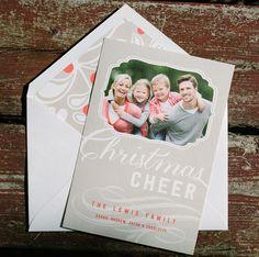 Amira custom holiday photo cards from Smock