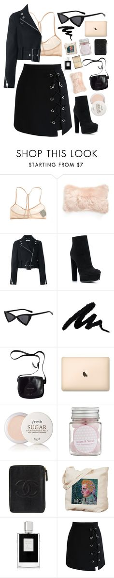 """Go on"" by mode-222 ❤ liked on Polyvore featuring Ann Demeulemeester, Mina Victory, Givenchy, Casadei, Longchamp, Fresh, Chanel, Kilian and Chicwish"