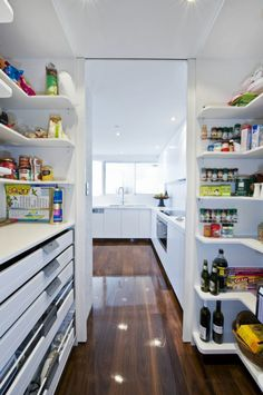 Use long drawers for linens