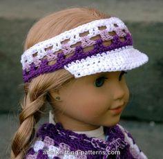http://www.abc-knitting-patterns.com/1383.html       ABC Knitting Patterns - American Girl Doll Visor