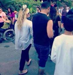 Demi and Wilmer at Disney land