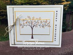 Hi! Today I am taking part in an International Project Highlight featuring Stampin' Up! Demonstrators from around the world! I am excited to be a part of this! I used the tree from T…