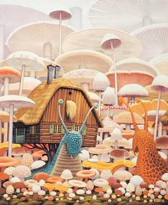 Jacek Yerka's eccentric hybrids fuse animals with landscapes and manmade inventions