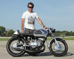 Scott Blackford and his 1965 Suzuki T20 twin