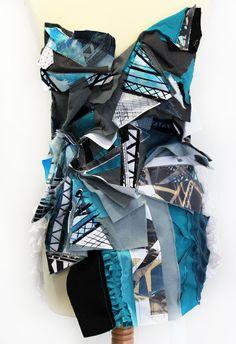 New Dress Designer Fabric Manipulation 66 Ideas A Level Textiles, Textile Fabrics, Textile Art, Fabric Manipulation Techniques, Textiles Techniques, Textiles Sketchbook, Fashion Sketchbook, Textile Design, Fabric Design
