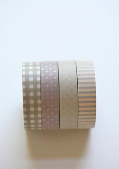 japanese washi tape in pretty neutrals Mt Tape, Masking Tape, Washi Tapes, Tapas, Cinta Washi, Decorative Tape, Paper Crafts, Diy Crafts, Paper Tape